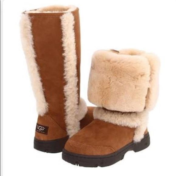 bdbf4312452 Ugg Sunburst Tall Boots Chestnut